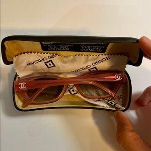 Chanel pink sunglasses